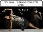 rimi basu indian amercican pop singer