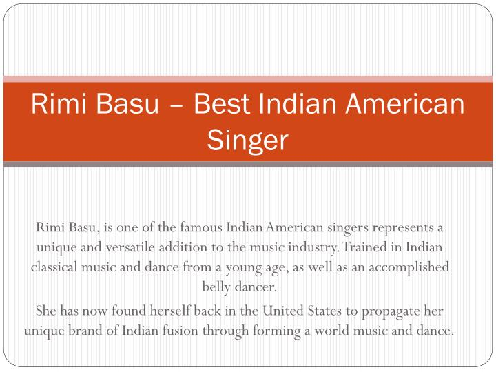 Rimi basu best indian american singer