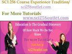 sci 256 course experience tradition sci256outlet com