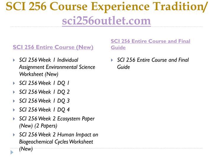 SCI 256 Course