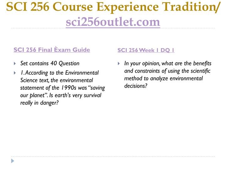 Sci 256 course experience tradition sci256outlet com2