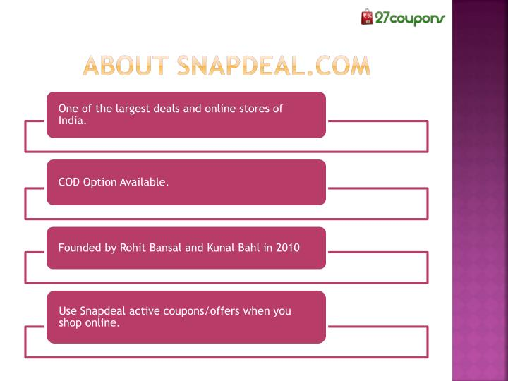 About snapdeal.com