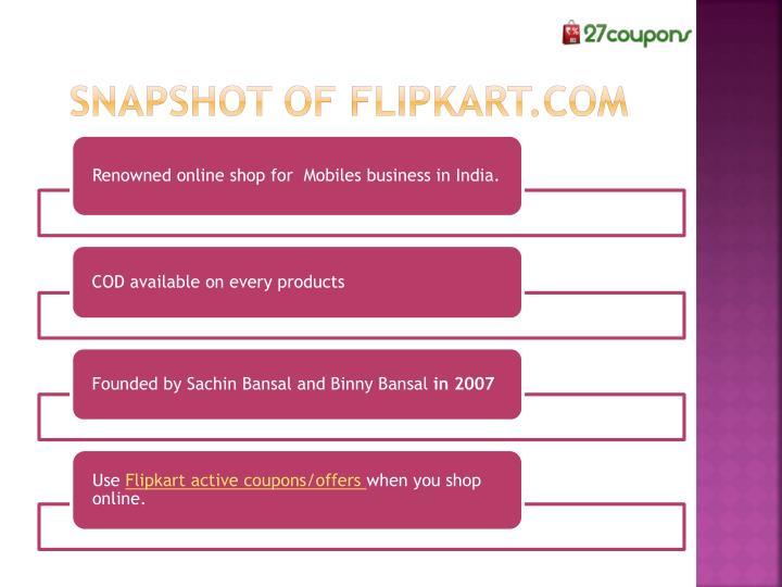 Snapshot of Flipkart.com