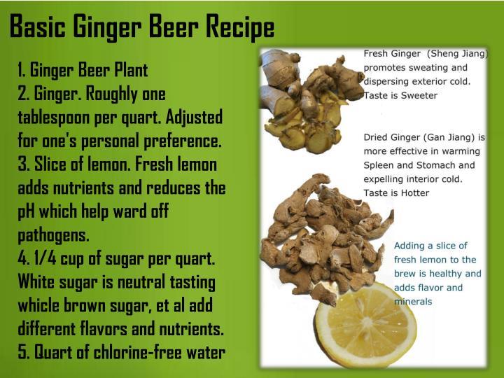 Basic Ginger Beer Recipe