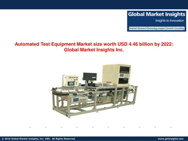 Automated Test Equipment Market size worth USD 4.46 billion by 2022: Global Market Insights Inc.