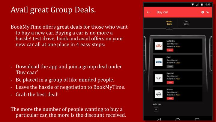 Avail great Group Deals.