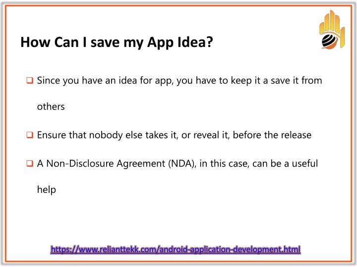 How Can I save my App Idea?