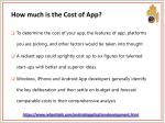 how much is the cost of app