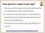 how special or unique is your app