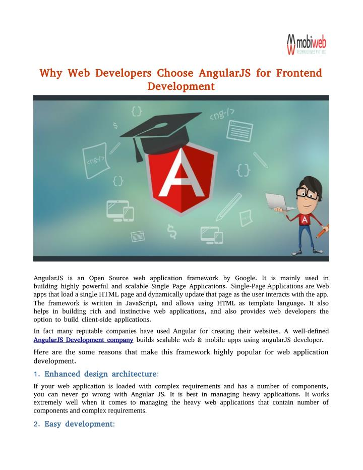 Why Web Developers Choose AngularJS for Frontend