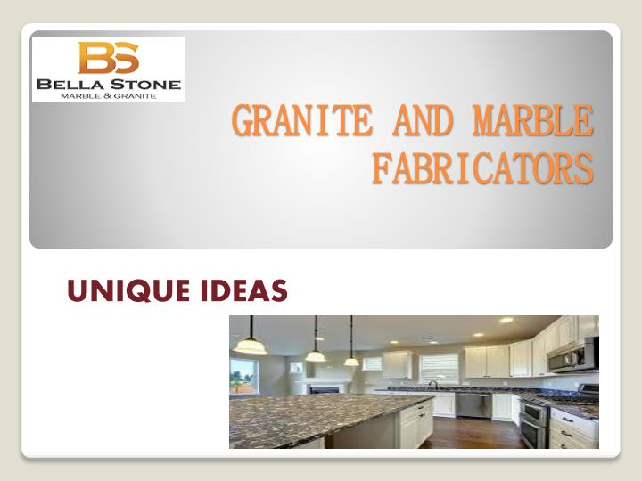 Granite and marble fabricators