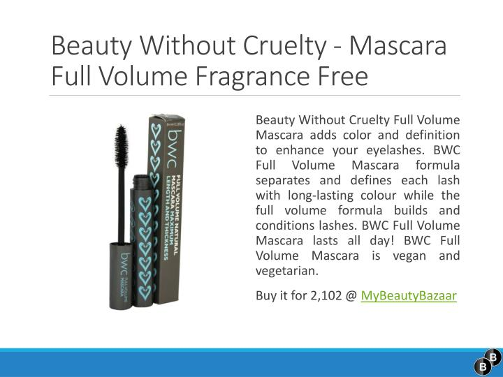 Beauty without cruelty mascara full volume fragrance free