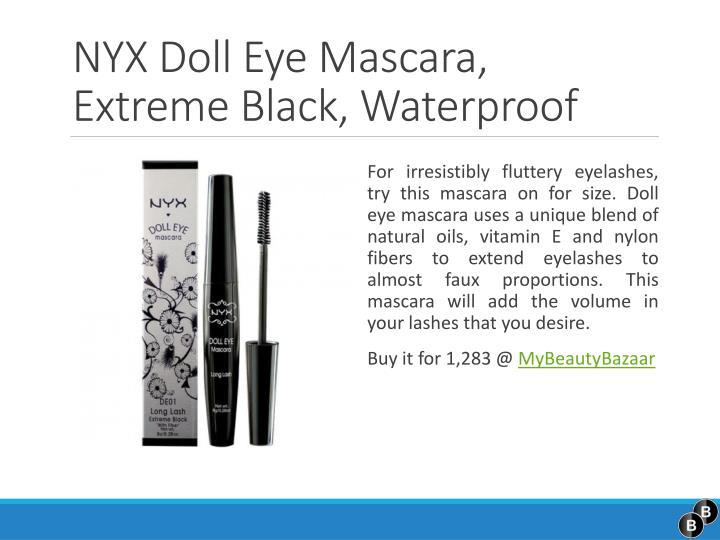 NYX Doll Eye Mascara, Extreme Black,