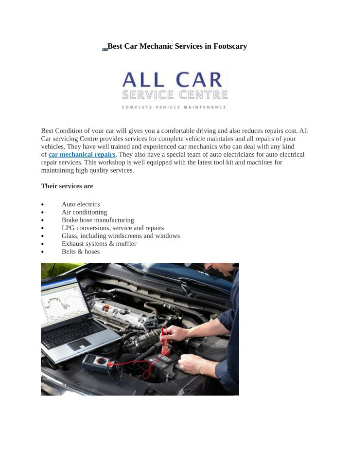 Best Car Mechanic Services in Footscary