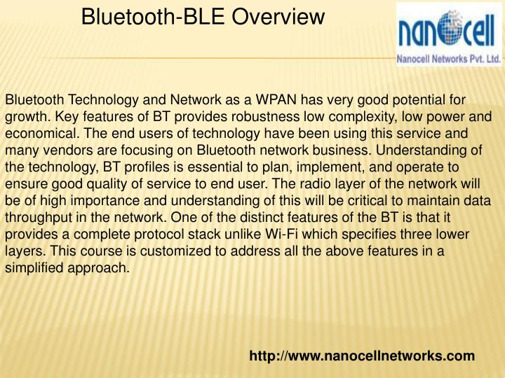 Bluetooth-BLE Overview
