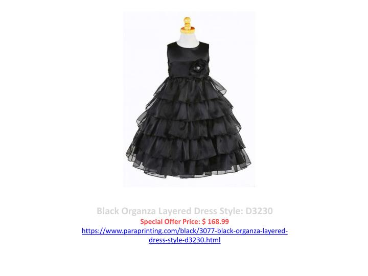 Black Organza Layered Dress Style: D3230
