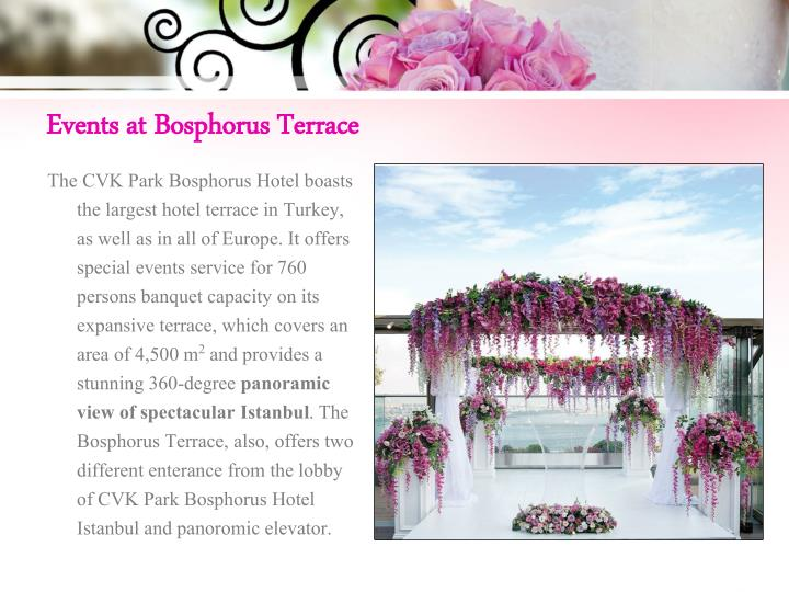 Events at bosphorus terrace