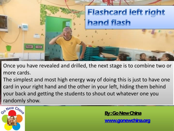 Flashcard left right hand flash