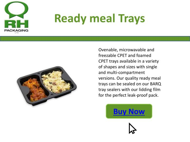 Ready meal Trays