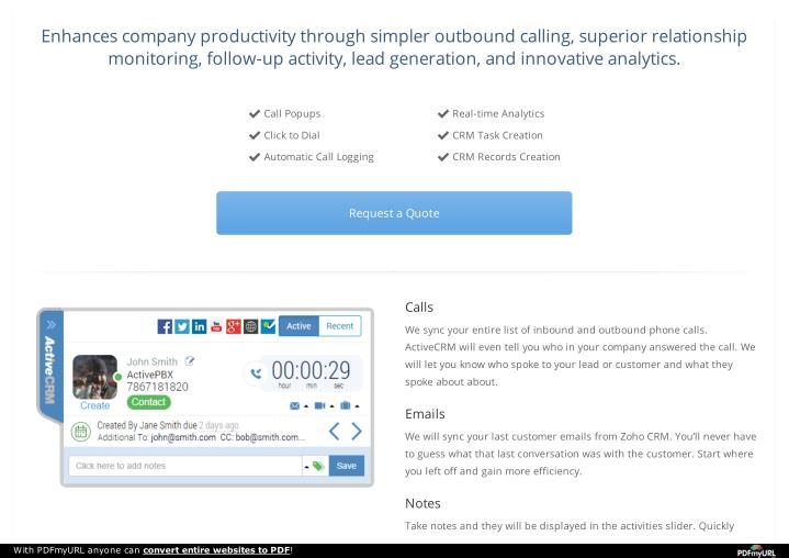 Enhances company productivity through simpler outbound calling, superior relationship