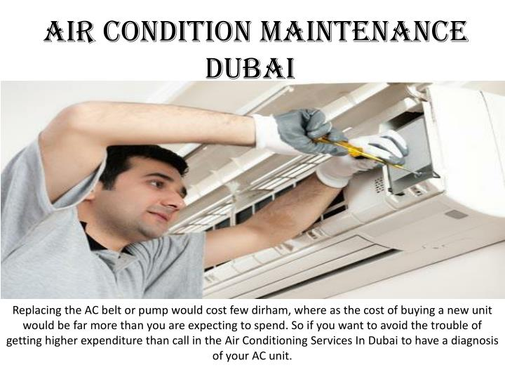 Air condition maintenance