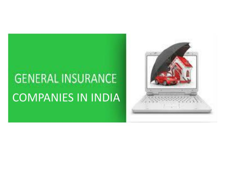 COMPANIES IN INDIA
