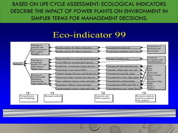BASED ON LIFE CYCLE ASSESSMENT: ECOLOGICAL INDICATORS