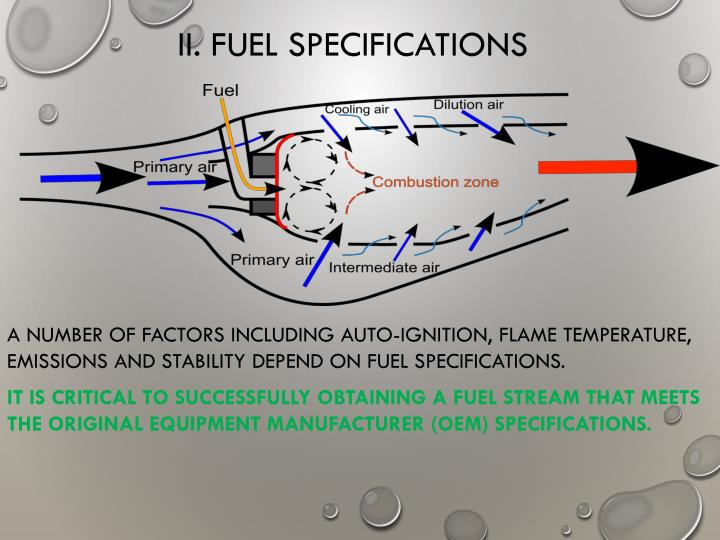 II. FUEL SPECIFICATIONS