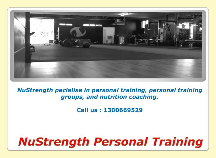 Nustrength personal training2