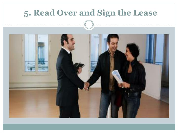 5. Read Over and Sign the Lease