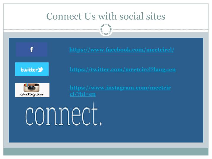 Connect Us with social sites