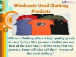 wholesale used clothing products