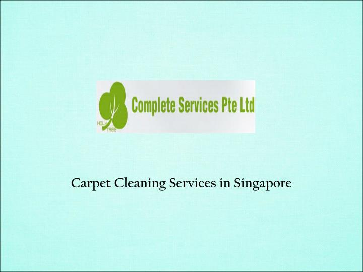 Carpet Cleaning Services in Singapore
