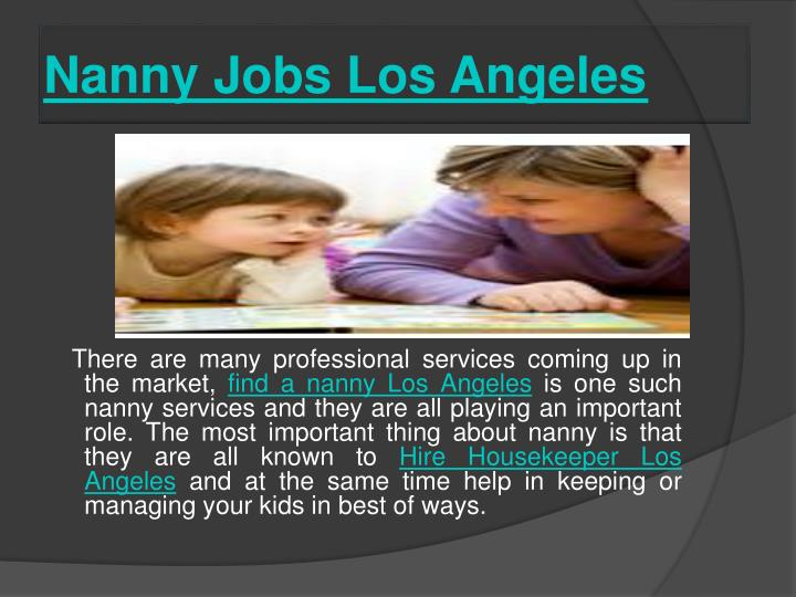 Nanny Jobs Los Angeles
