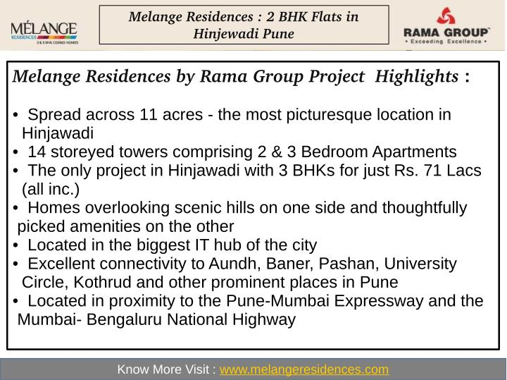 Melange Residences : 2 BHK Flats in
