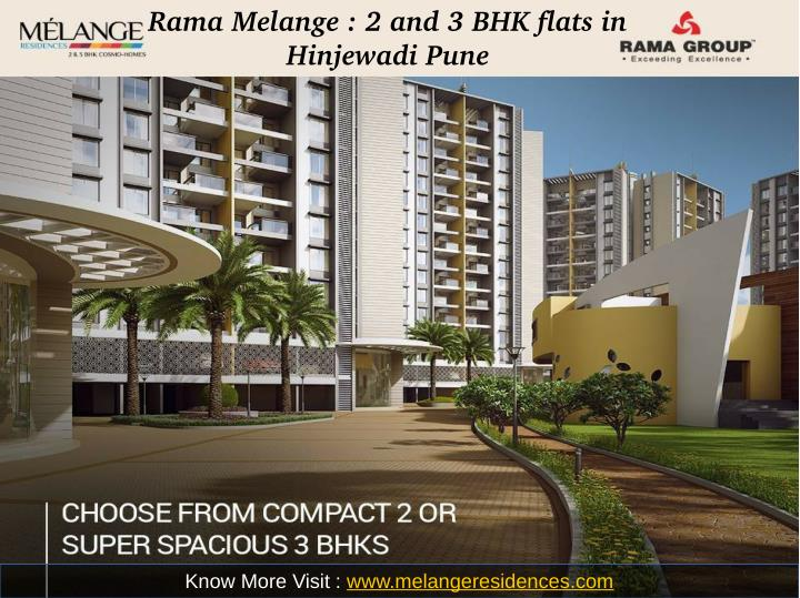 Rama Melange : 2 and 3 BHK flats in