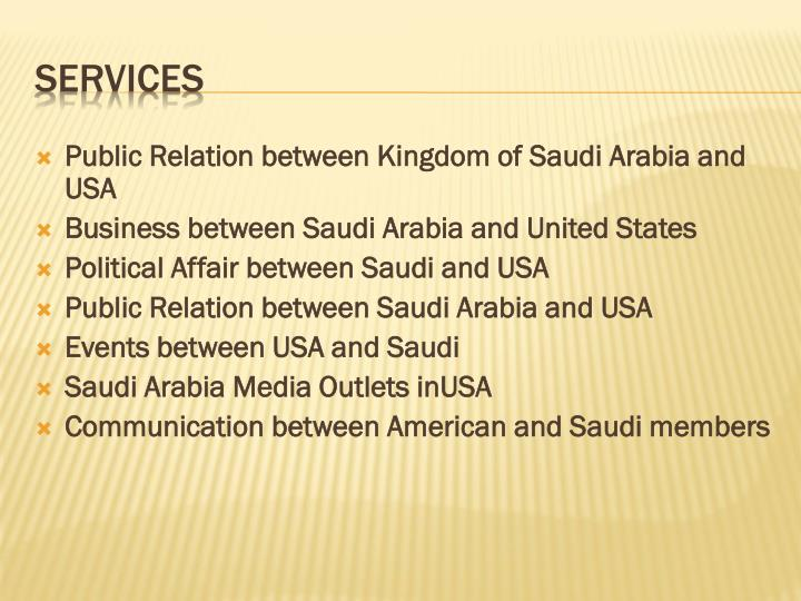 Public Relation between Kingdom of Saudi Arabia and