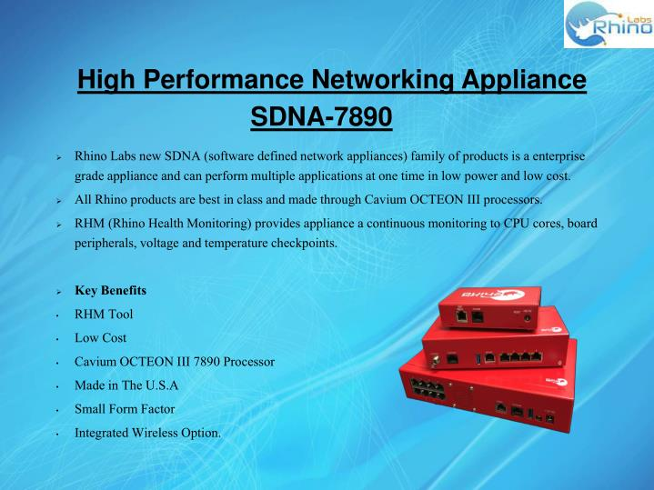 High Performance Networking Appliance