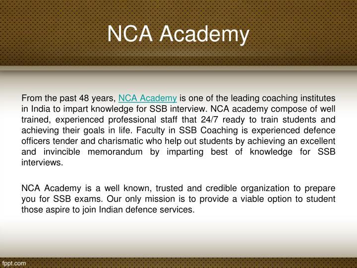 NCA Academy