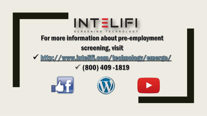 For more information about pre-employment