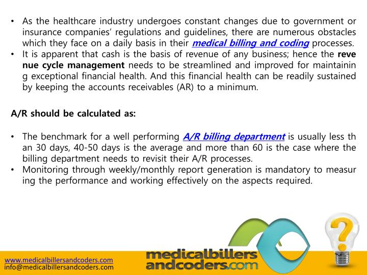 As the healthcare industry undergoes constant changes due to government or insurance companies' re...
