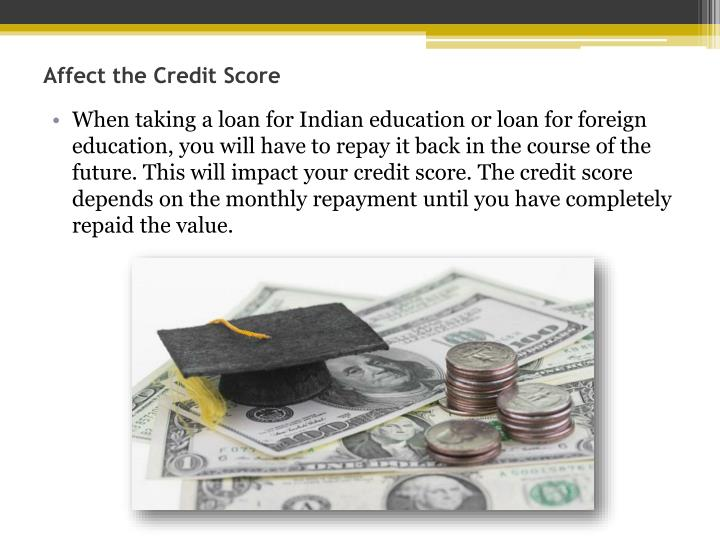Affect the Credit Score