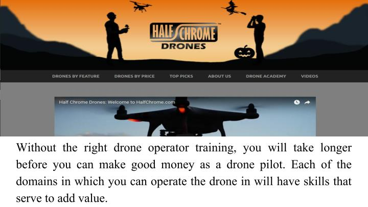 Without the right drone operator training, you will take longer