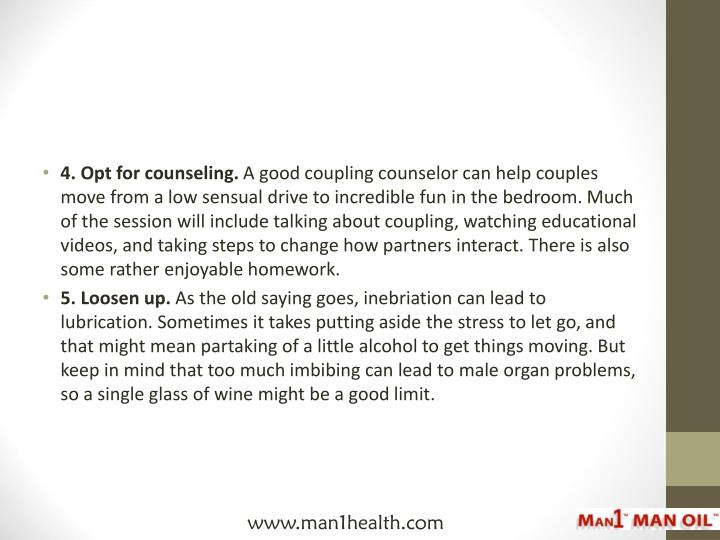4. Opt for counseling.