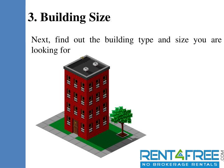 Next, find out the building type and size you are looking for