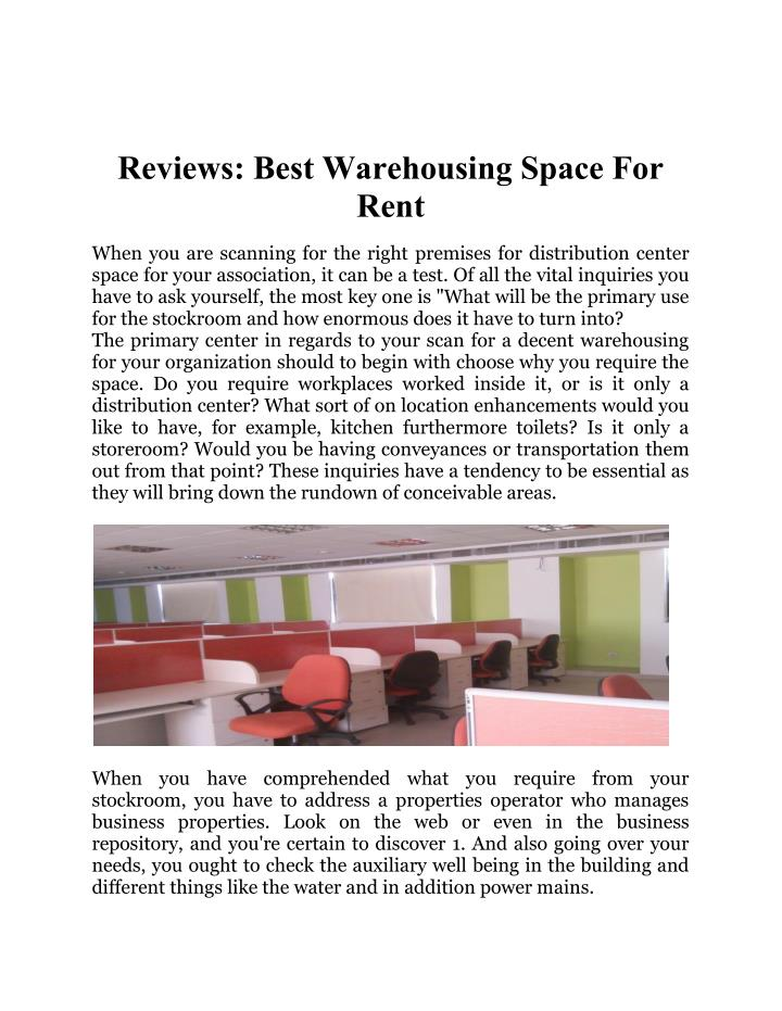 Reviews: Best Warehousing Space For