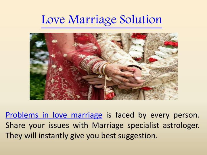 Love Marriage Solution