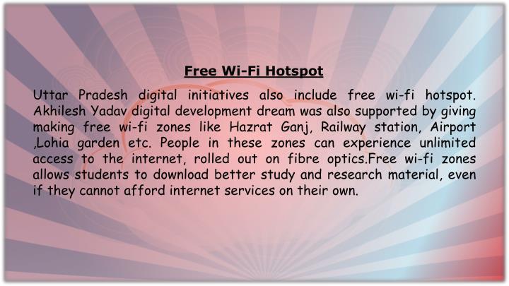 Free Wi-Fi Hotspot
