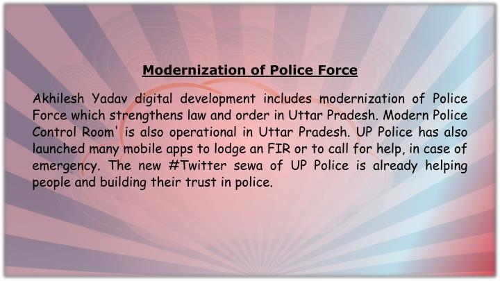Modernization of Police Force