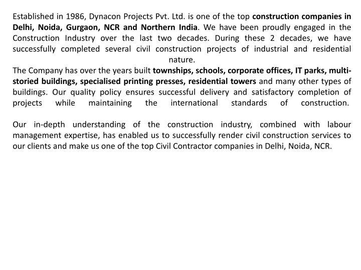 Established in 1986,